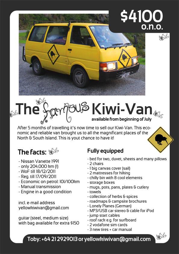 KIWI Van zu verkaufen